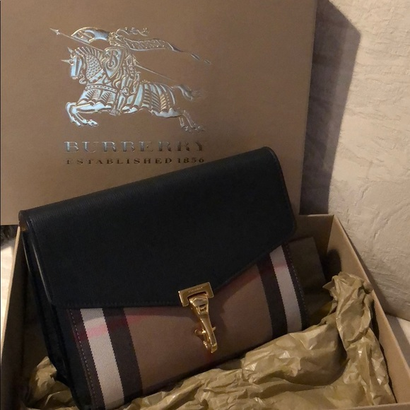 0a09d9f4736 Burberry Bags | Small Leather And House Check Crossbody | Poshmark